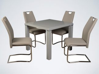 Clarus Small Square Dining Table Grey Browns Furniture