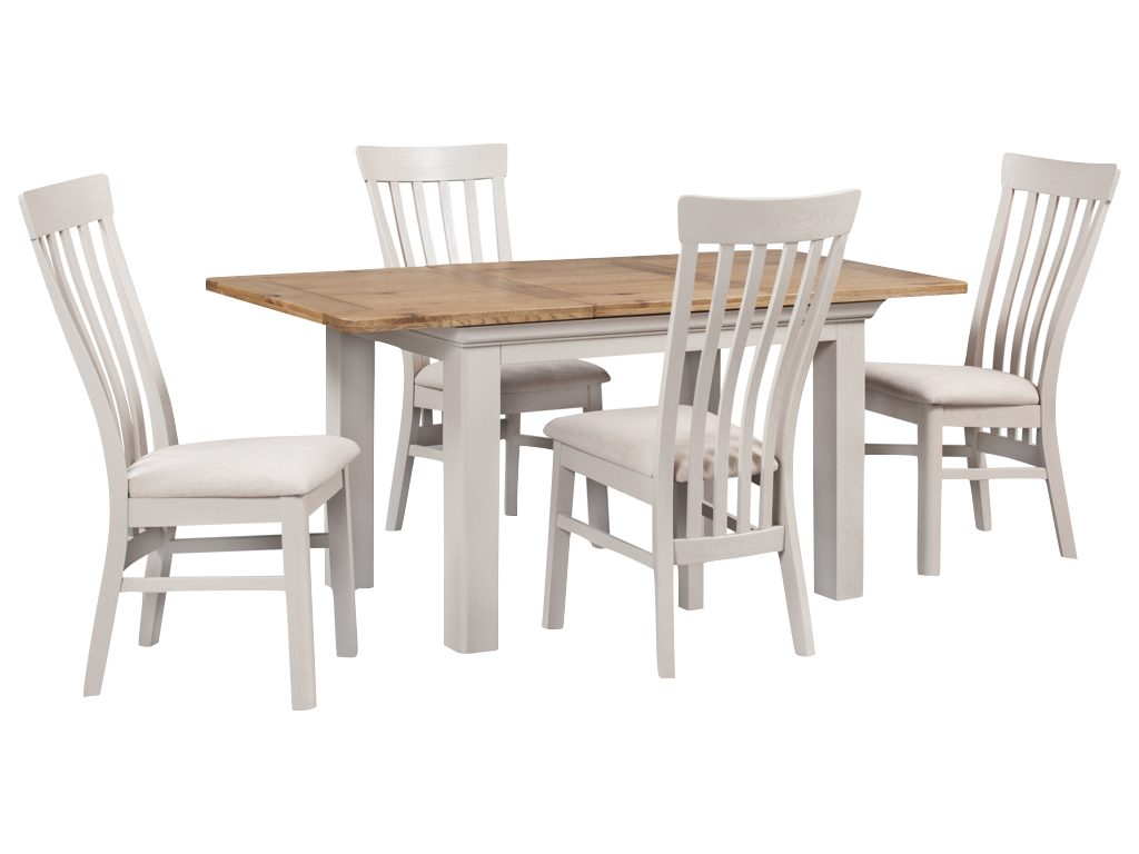 Lyon Painted 140cm Dining Set 6 Chairs Browns Furniture