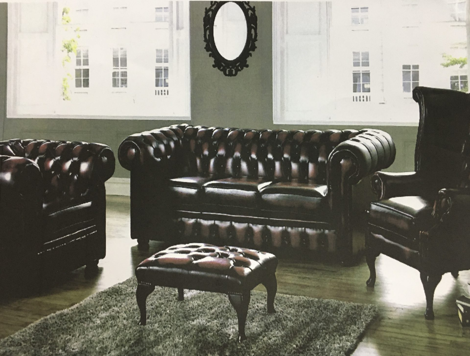 Chesterfield In Leather Browns Furniture